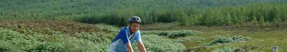 Keith summiting the pass to Lochranza