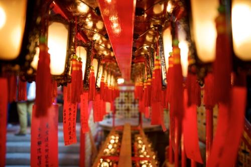 The Man Mo Temple in Central Hong Kong.