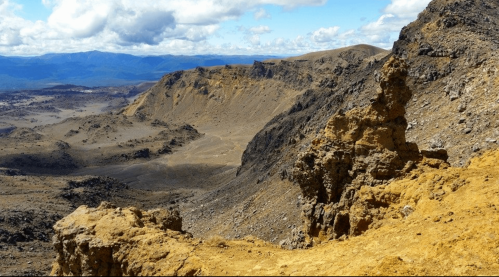 The south crater on the Tongariro Crossing