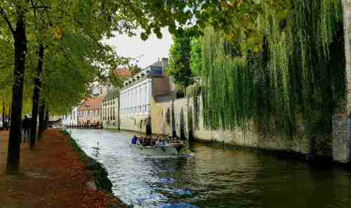 Boat trips on the Bruges canals are a popular tourist pastime