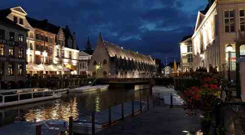 Beautiful Ghent beside the Leie canal