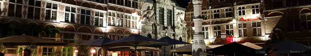 Lit up beautiful buildings in Ghent make the city spectacular to visit in the evening