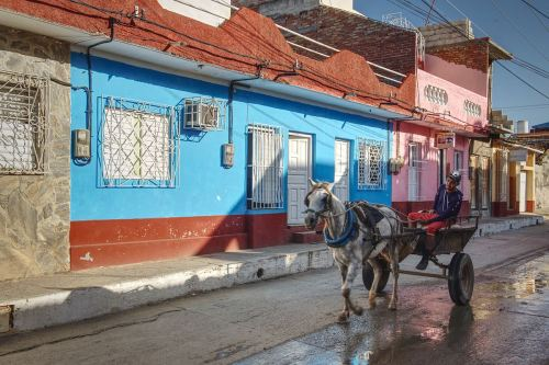 Nipping down the shops in Trinidad, Cuba